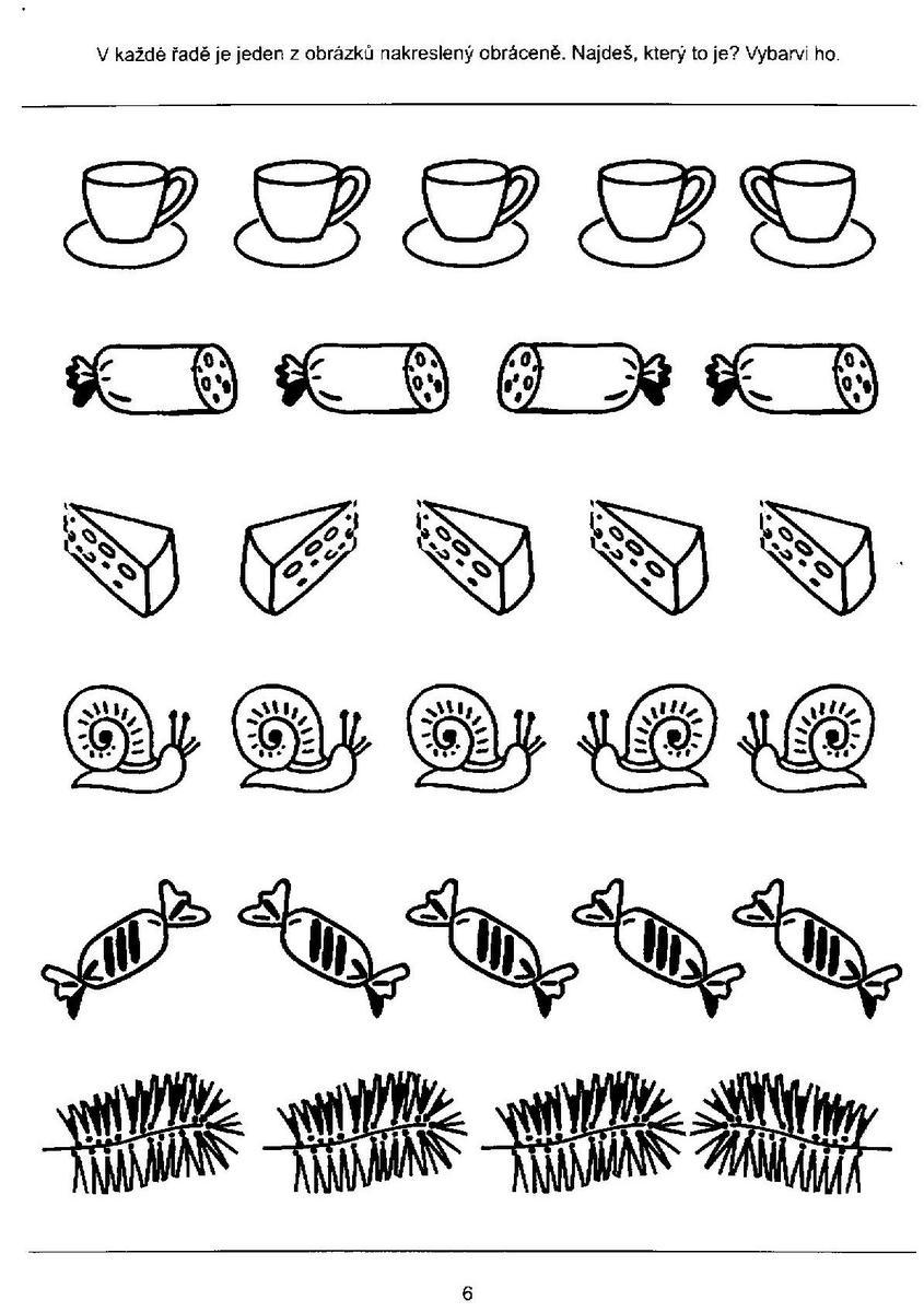 Shody A Rozdily Pracovni Listy Pro Rozvoj Zrakoveho Vnimani Haju