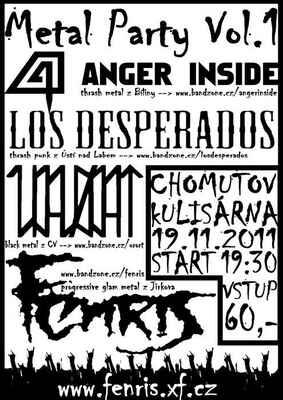 Poster - Metal Party vol. 1 - Kulisárna, Chomutov