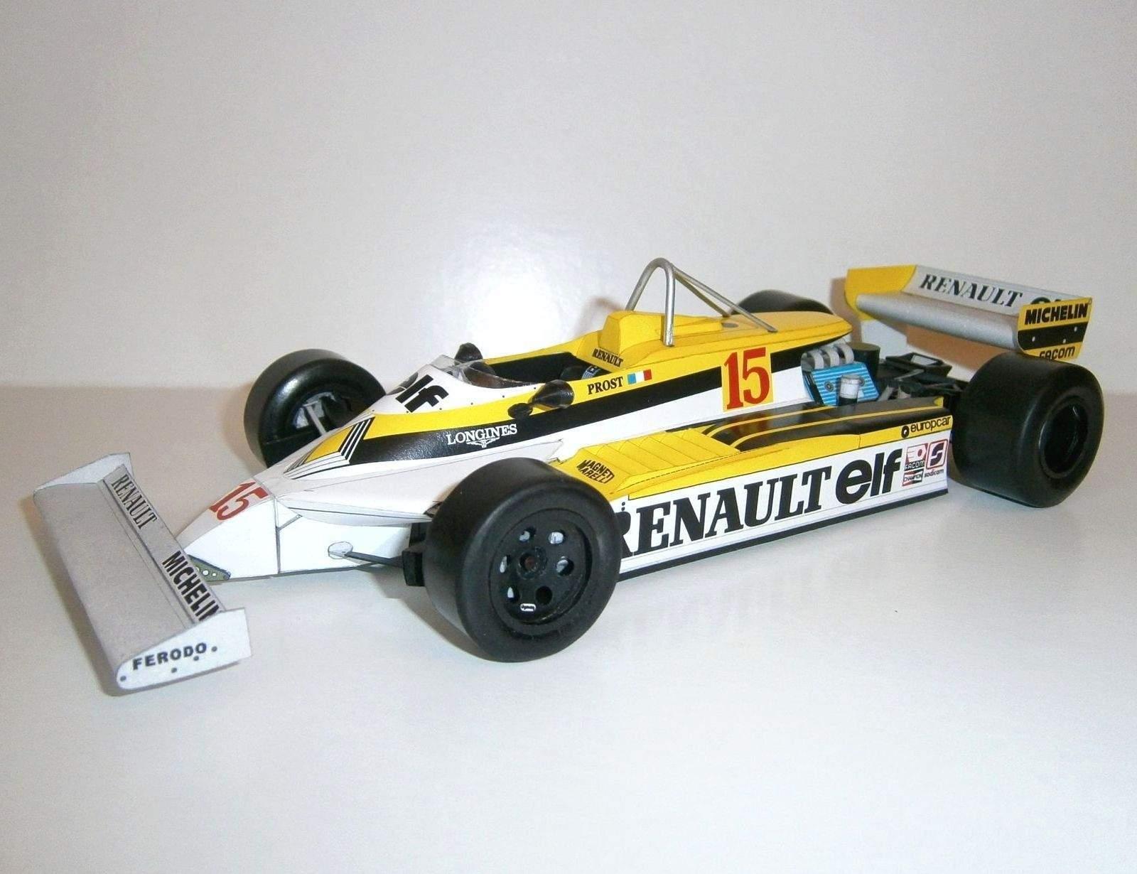 Renault RE30 - A.Prost, GP Belgian - 2.practice 1981