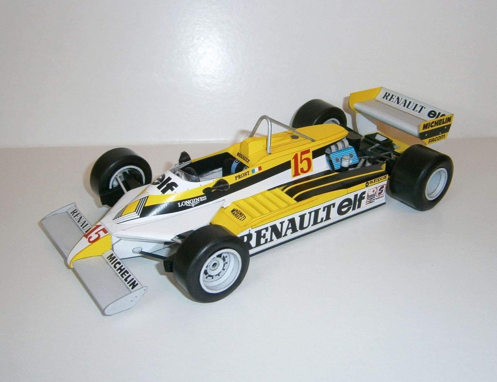 Renault RE30 - A.Prost, GP Belgian - 1.practice 1981