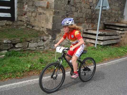 Lucie Valešová ovládla závod nejmladších dětí.